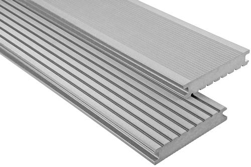Standard Vollprofil Grau gebürstet, 26x145 mm
