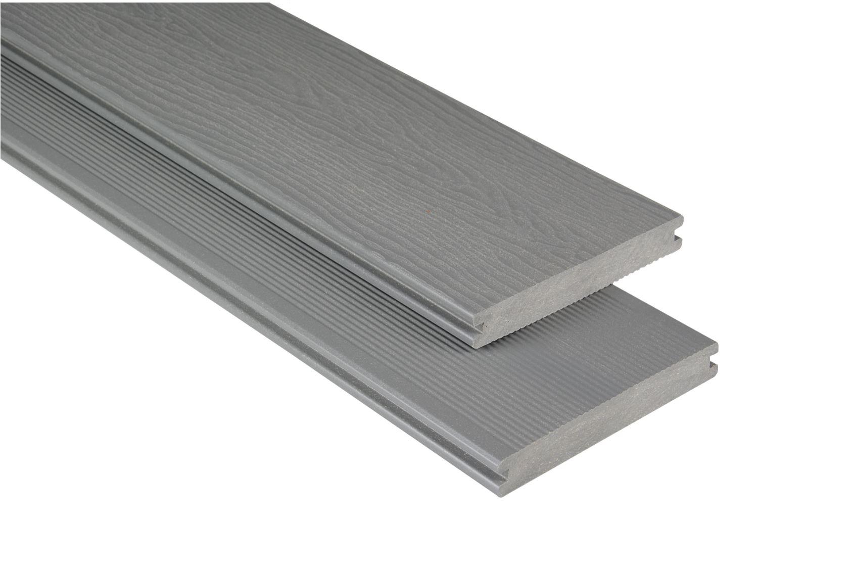 Massiv mit Struktur Grau unbehandelt, 20x145 mm