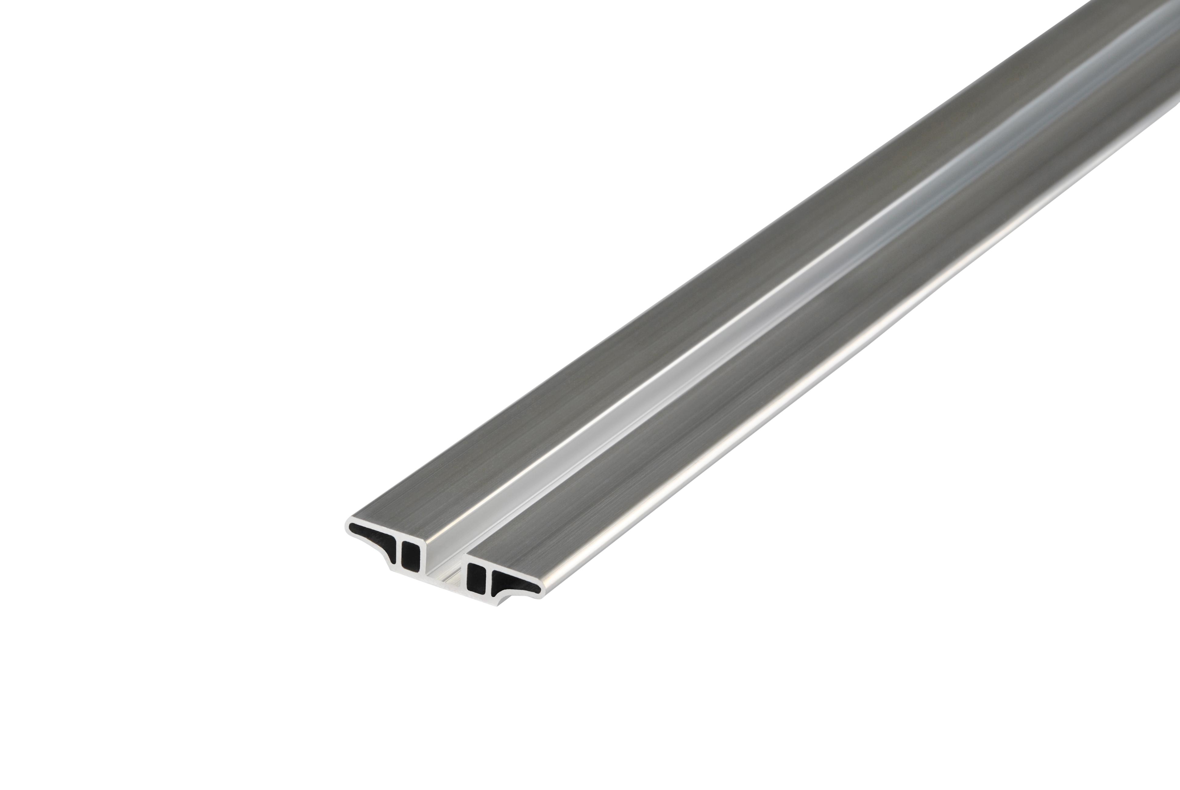 Kovalex Aluminium Unterkonstruktion - 12x62x2500 mm - Aluminium Silber