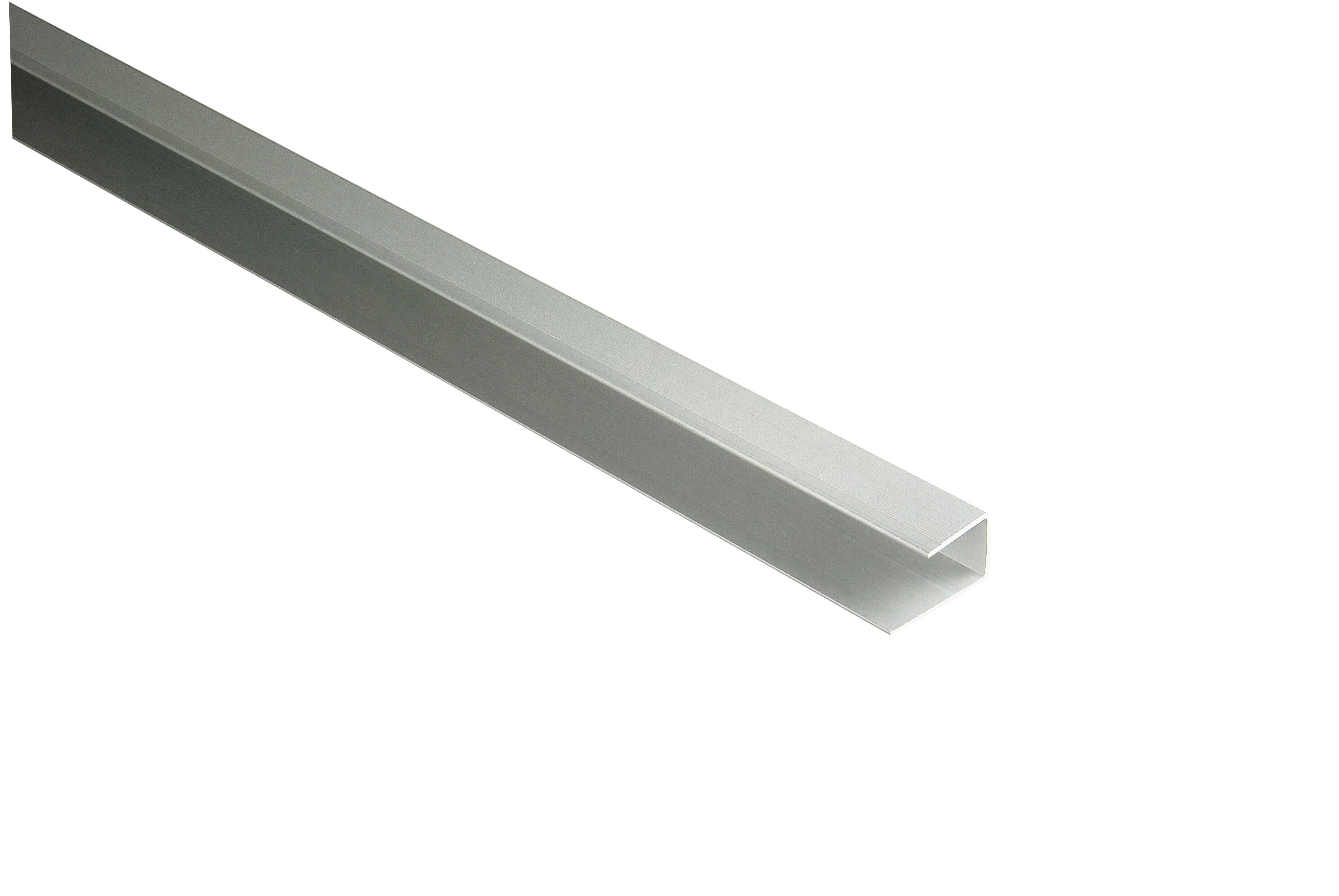 Kovalex Aluminium-Einfassprofil (U-Profil) für 20 mm Dielen - Farbe: Alu-Silber