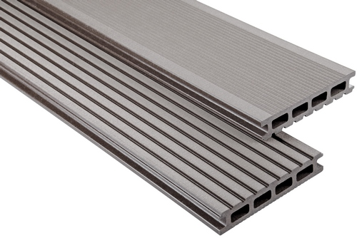 Standard Hohlkammer Graubraun gebürstet, 26x145 mm