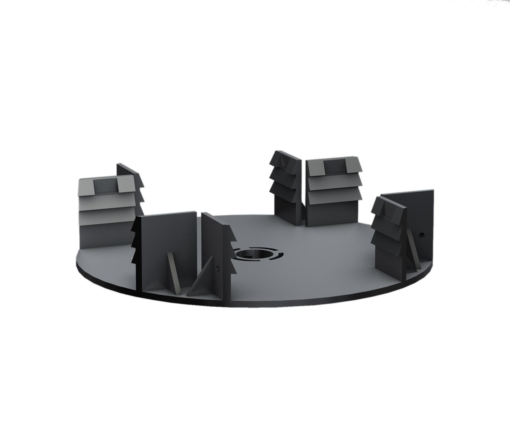 Kovalex Terrassenlager 0  zum Ausbilden einer selbstaussteifenden Rahmenkonstruktion - Farbe: Schwarz
