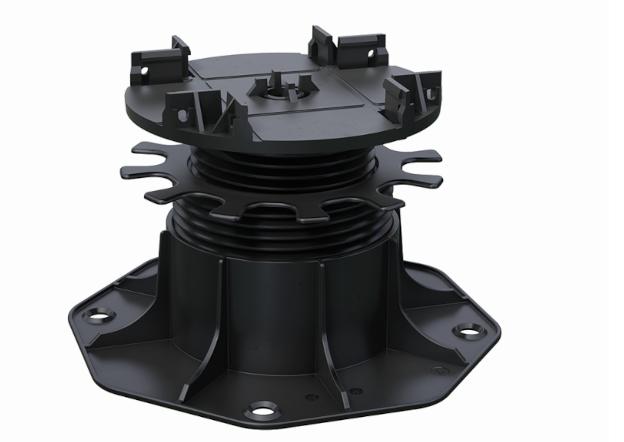 Kovalex Terrassenlager 2 - Höhenverstellung 65-155 mm - Farbe: Schwarz