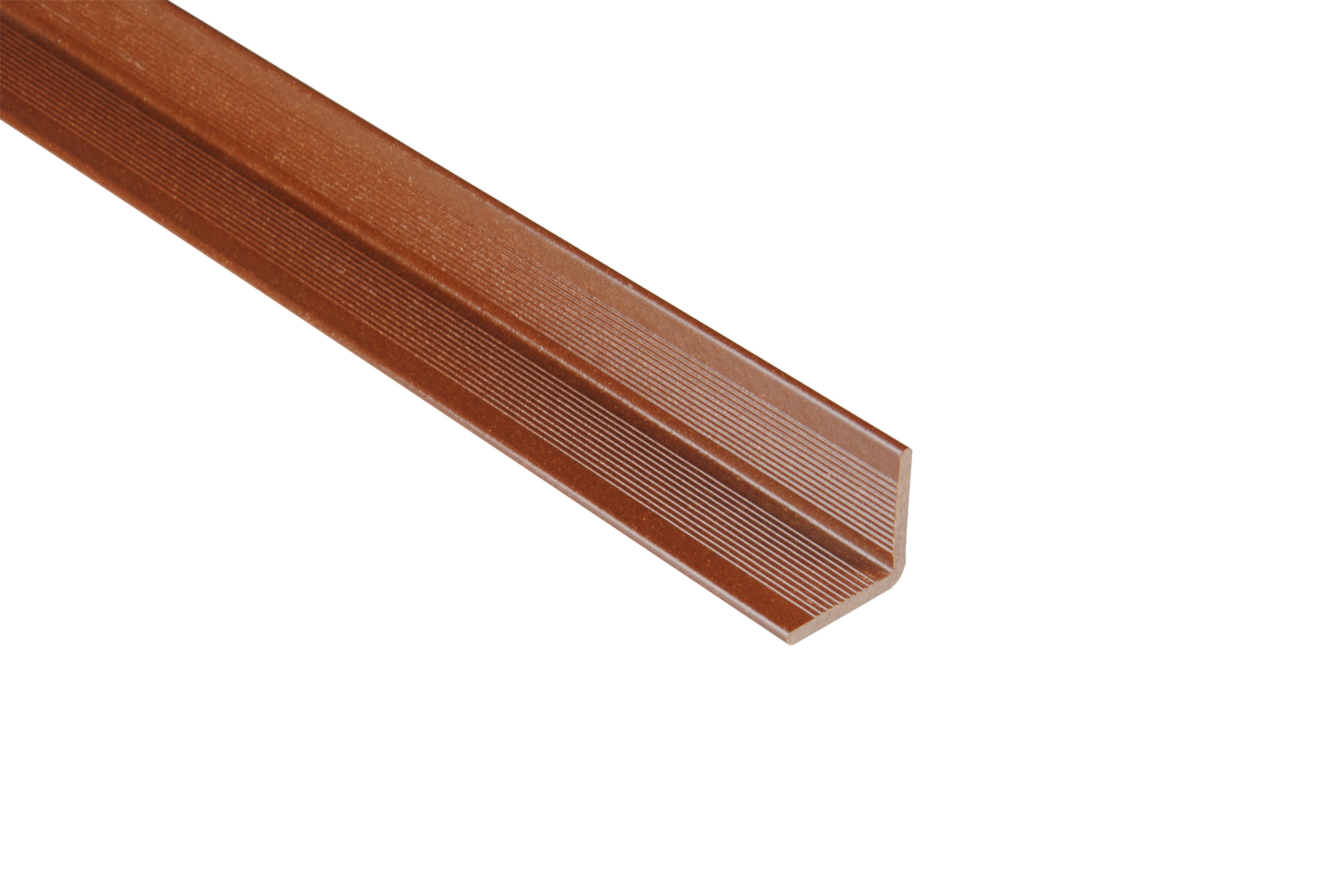 Kovalex WPC Wandabschluss - Farbe; Braun unbehandelt - Abmessung: 40x40x2.500 mm