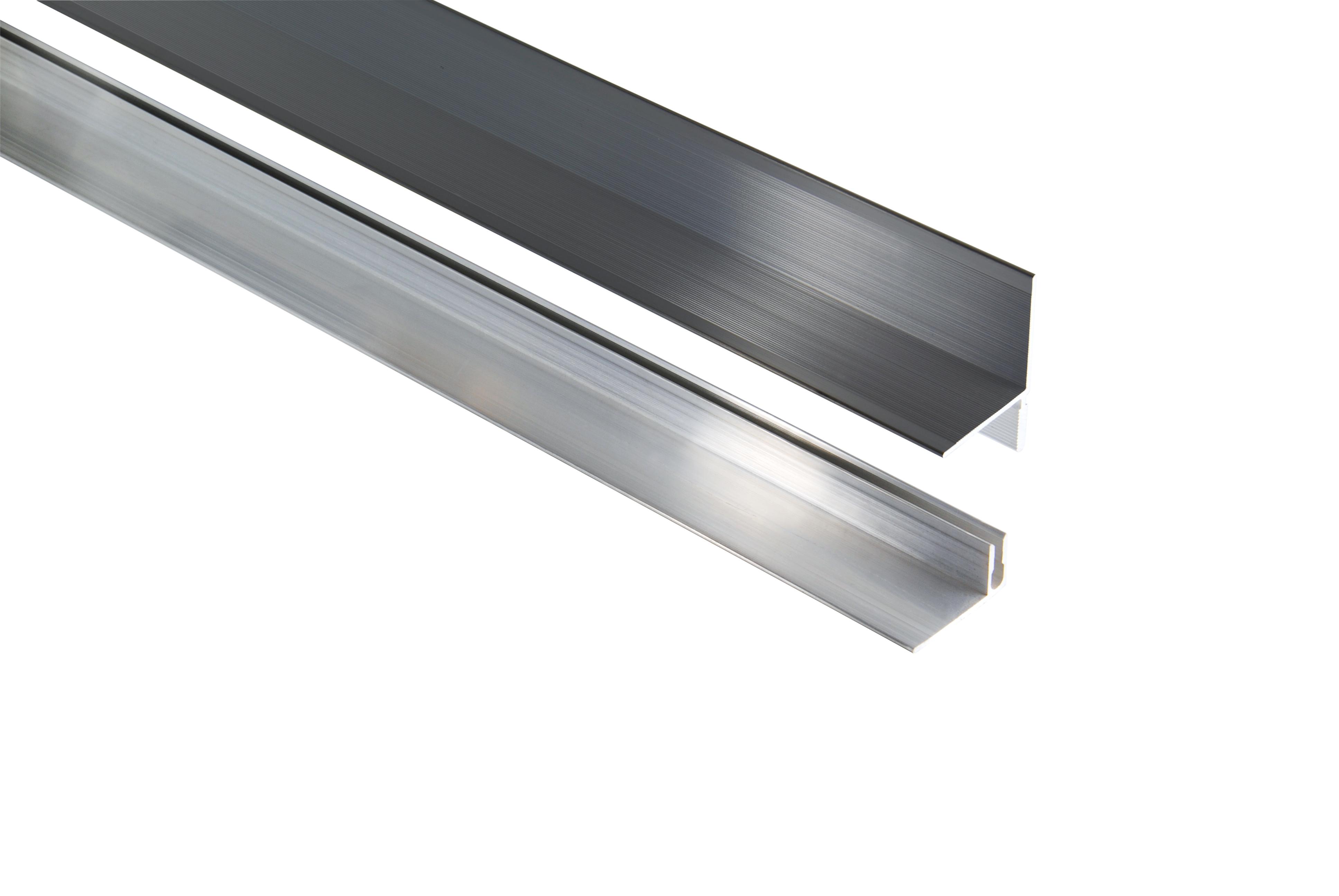 Kovalex Aluminium Wandabschluss mit Befestigungsprofil - Farbe: Anthrazit - Abmessung: 40x60x2.500 mm