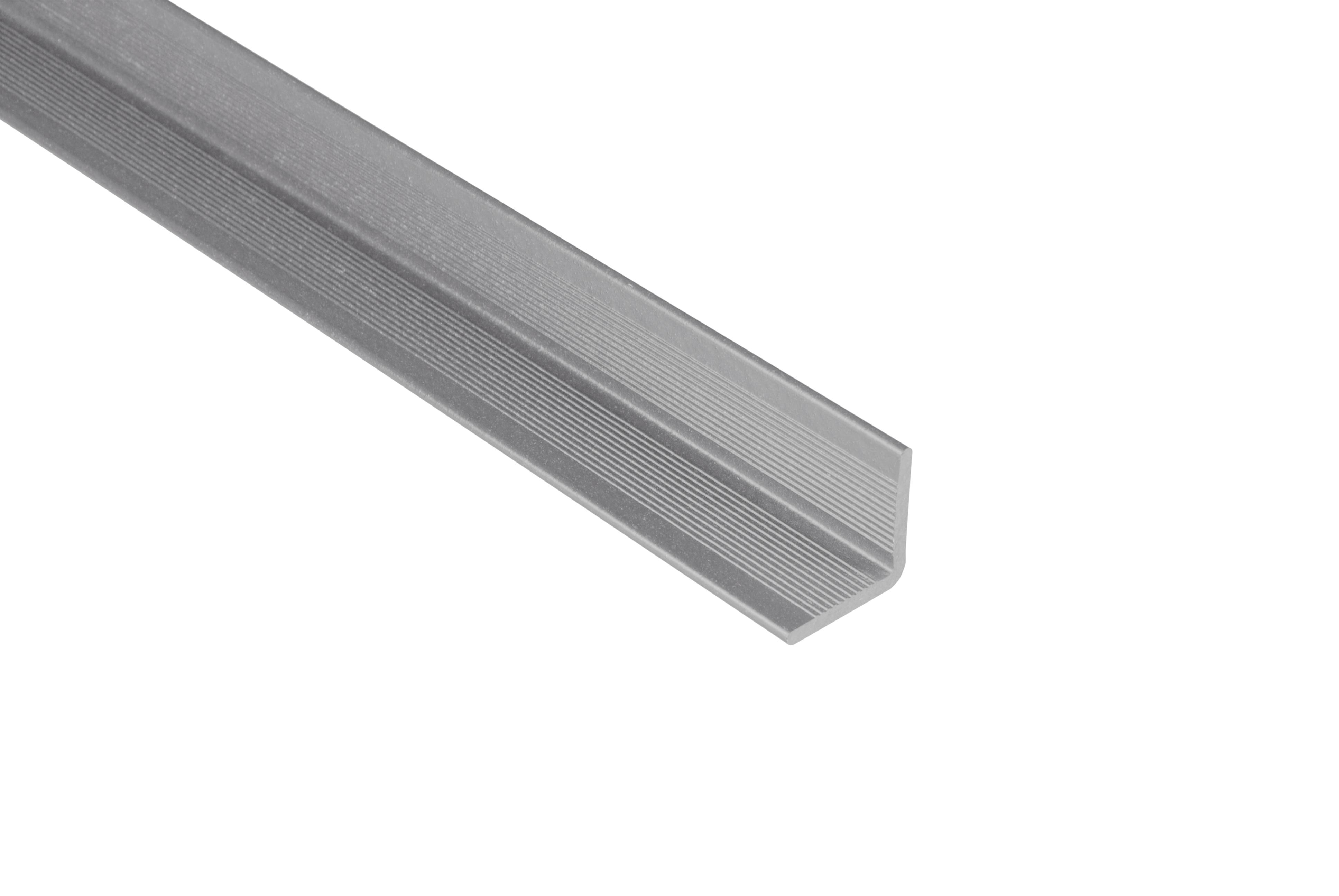 Kovalex WPC Wandabschluss - Farbe; Grau unbehandelt - Abmessung: 40x40x2.500 mm