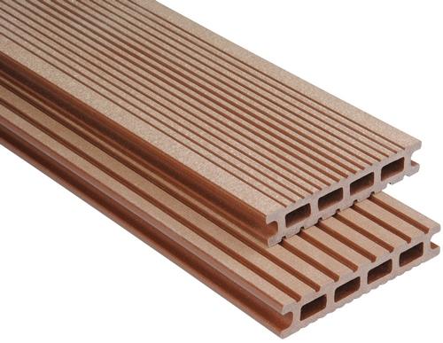 Exklusiv Hohlkammer Braun gebürstet, 26x145 mm