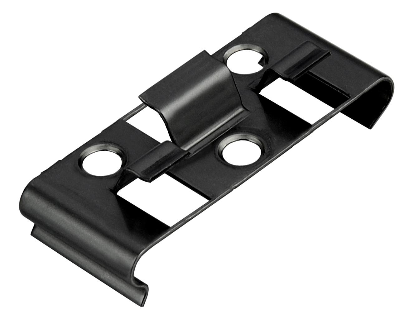 Kovalex Montageclip Boden Metall (25 Stück pro Beutel) - Edelstahl Schwarz
