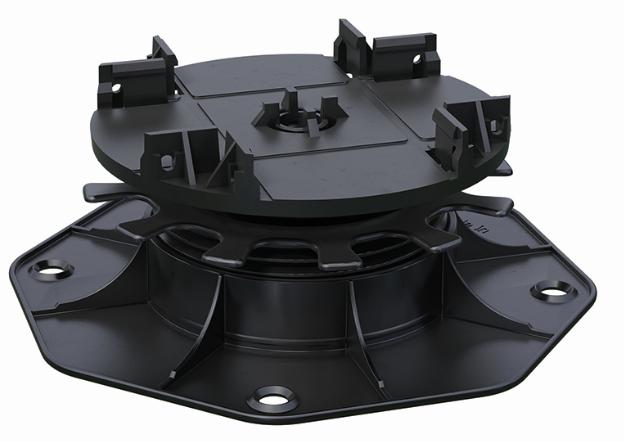 Kovalex Terrassenlager 1 - Höhenverstellung 35-70 mm - Farbe: Schwarz