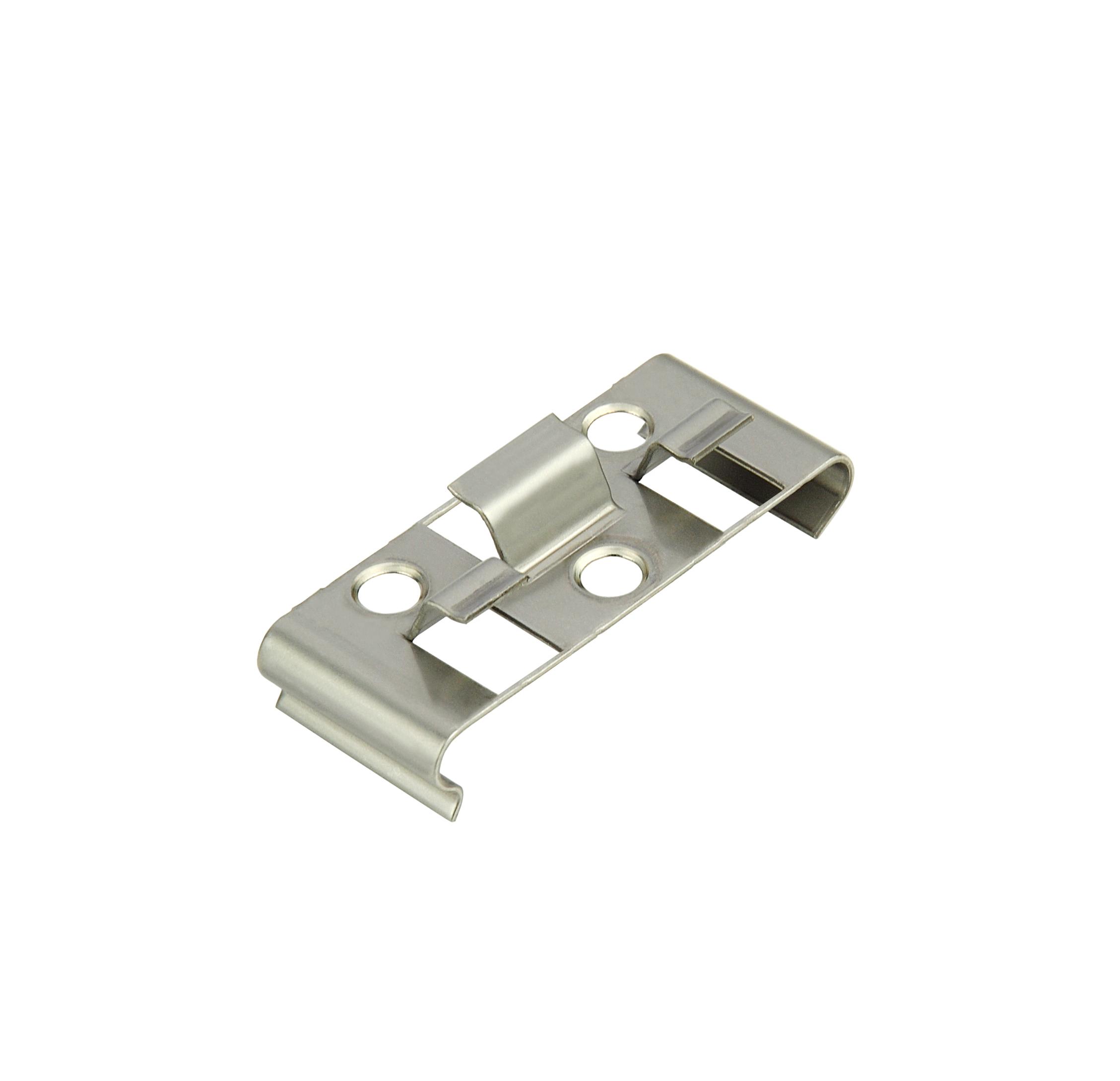 Kovalex Montageclip Boden Metall (25 Stück pro Beutel) - Edelstahl Silber