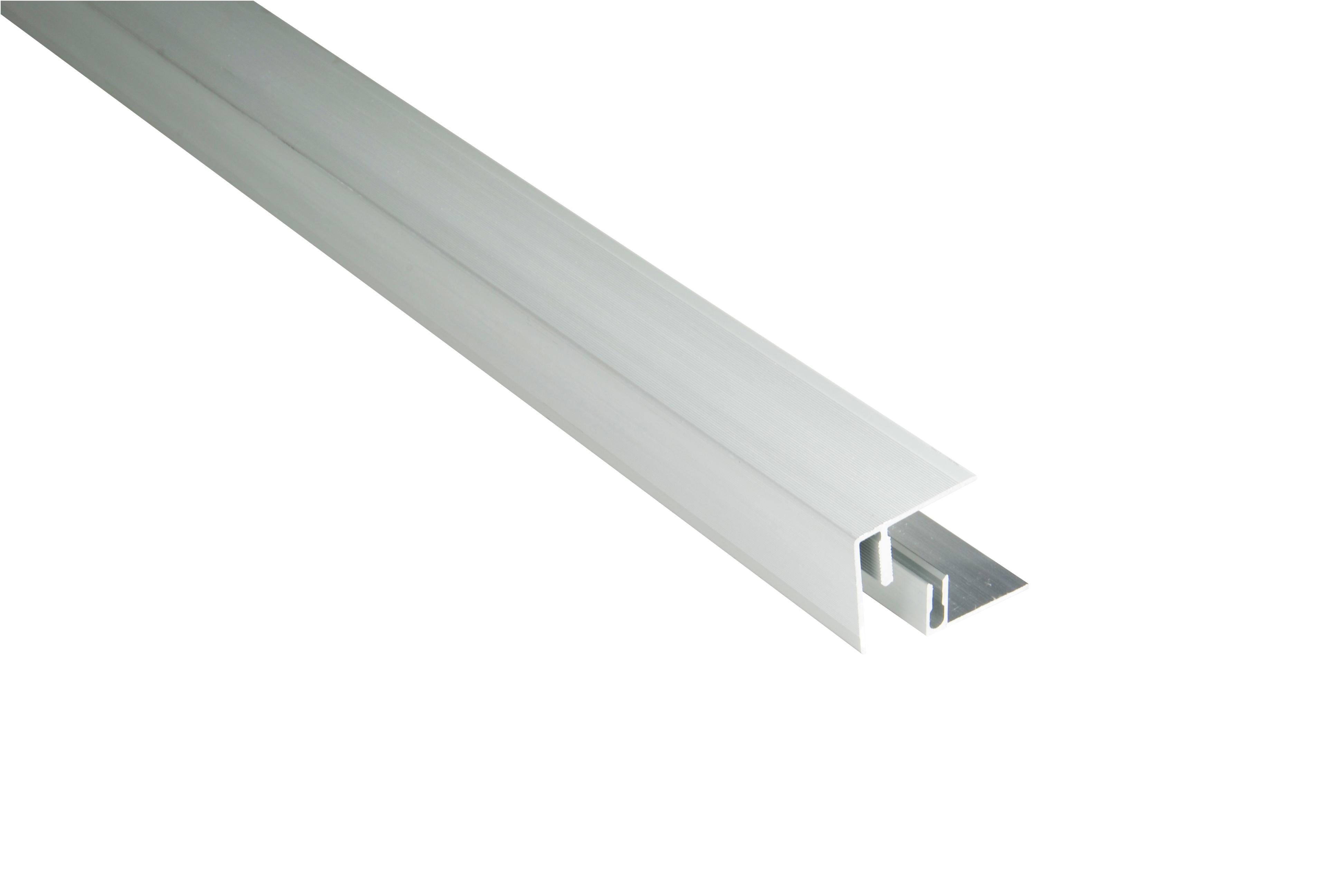 Kovalex Aluminium Seitenabschluss mit Befestigungsprofil - Farbe: Alu-Silber - Abmessung: 45x41x2.500 mm