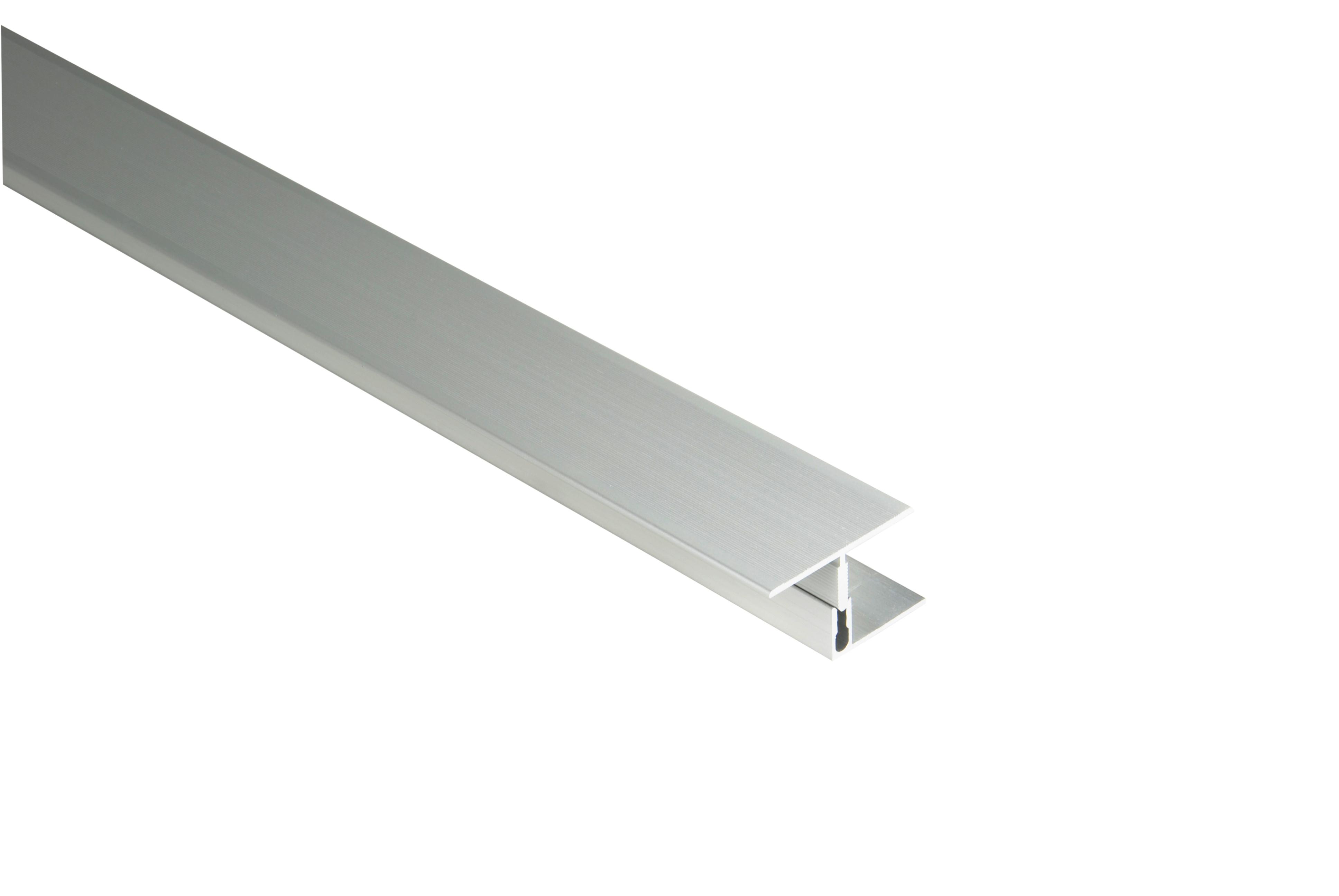 Kovalex Aluminium Übergangsprofil mit Befestigungsprofil - Farbe: Alu-Silber - Abmessung: 60x23x2.500 mm