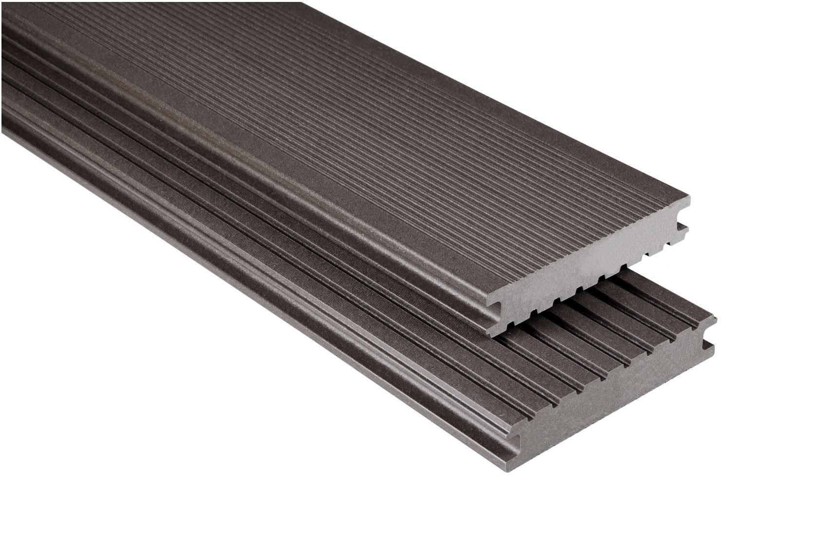 Standard Vollprofil Graubraun mattiert, 26x145 mm