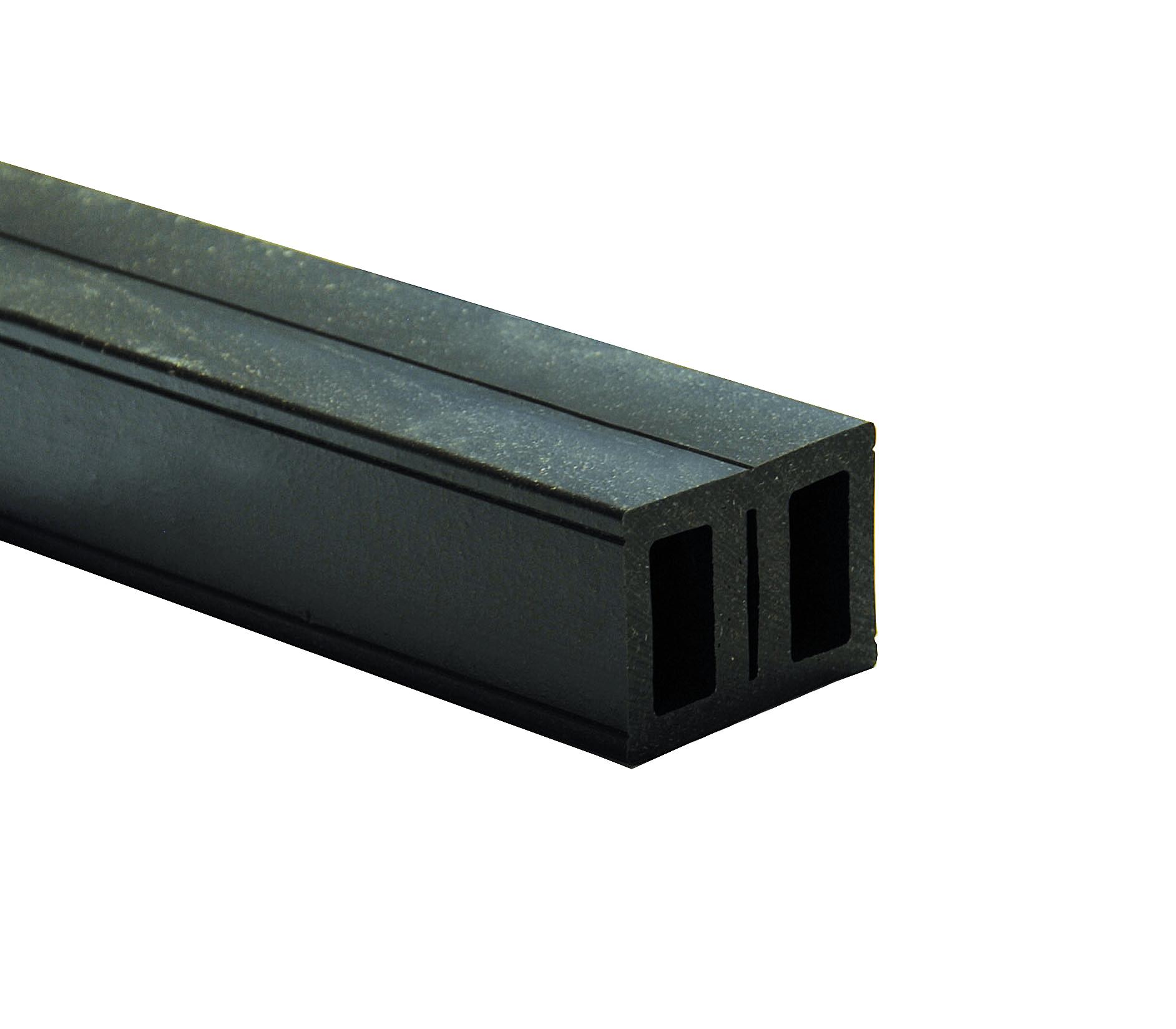 Kovalex WPC Universalunterkonstruktion - 40x55x3000 mm - Schwarz