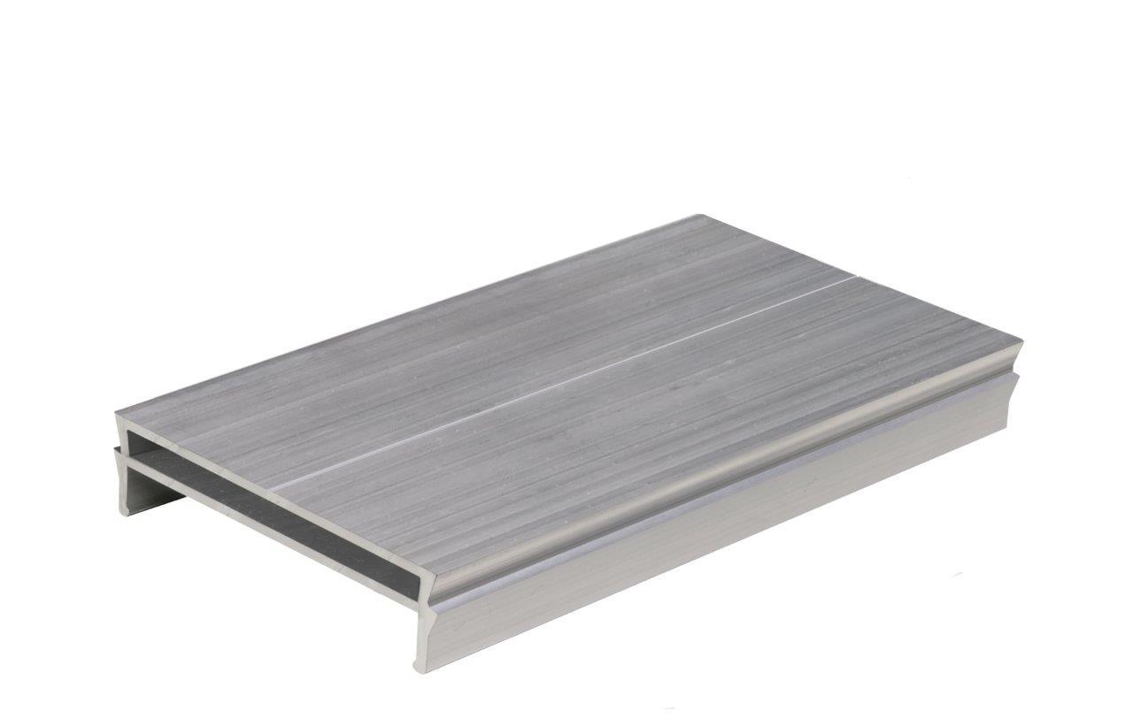 Kovalex ALU-Adapter für Terrassenlager - Aluminium Silber - Inhalt: 10 Stück im Beutel - Bedarf: 1 Adapter pro Terrassenlager