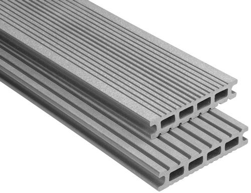 Exklusiv Hohlkammer Grau gebürstet, 26x145 mm