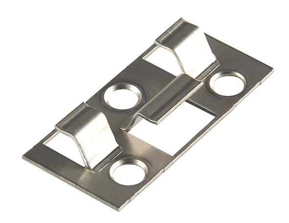 Kovalex Montageklammer Schraubbar (25 Stück im Beutel) - Edelstahl Silber