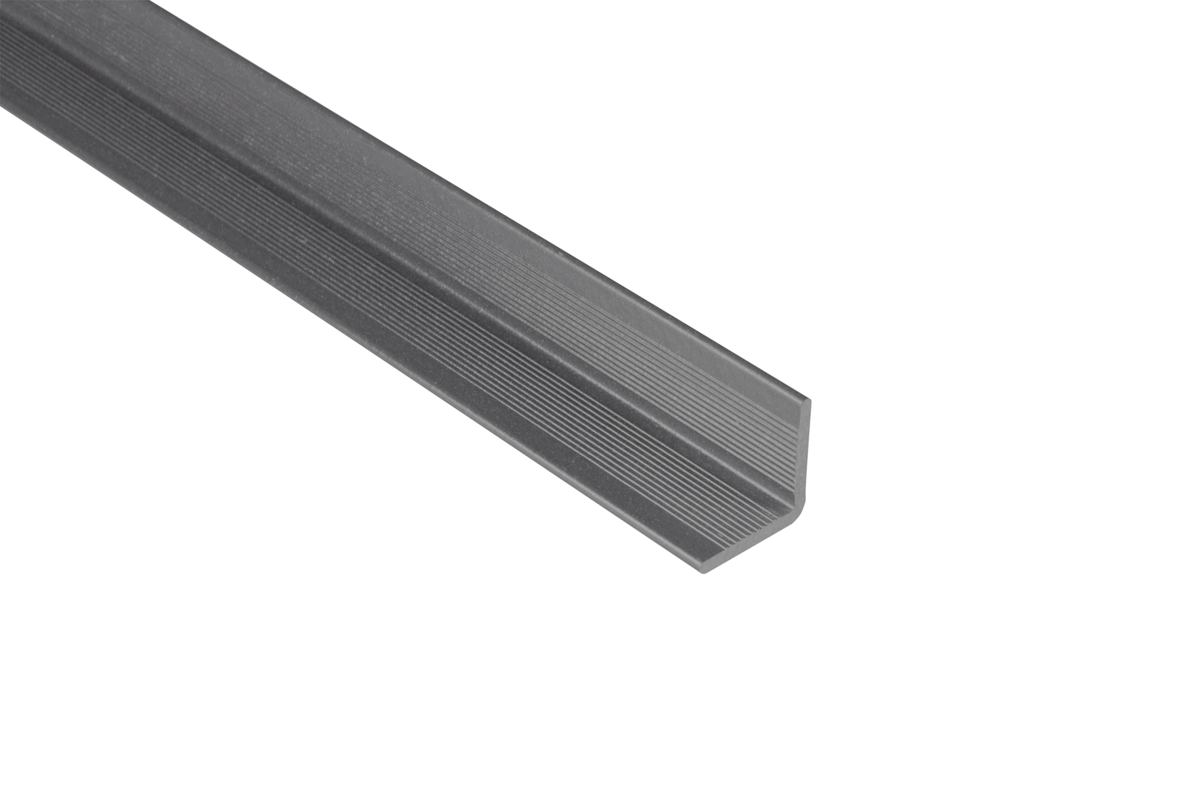 Kovalex WPC Wandabschluss - Farbe; Steingrau unbehandelt - Abmessung: 40x40x2.500 mm