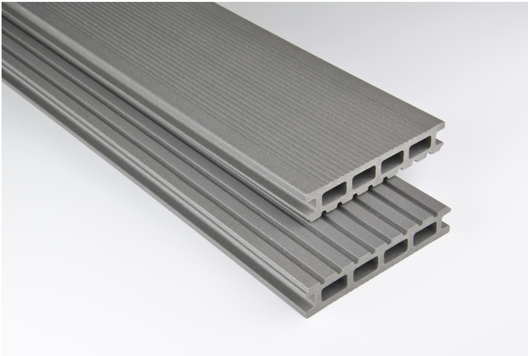Standard Hohlkammer Grau mattiert, 26x145 mm