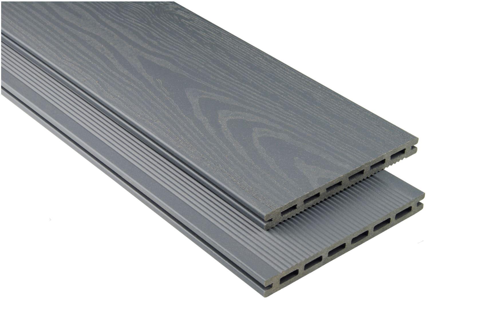 XL mit Struktur Steingrau mattiert, 20x190 mm