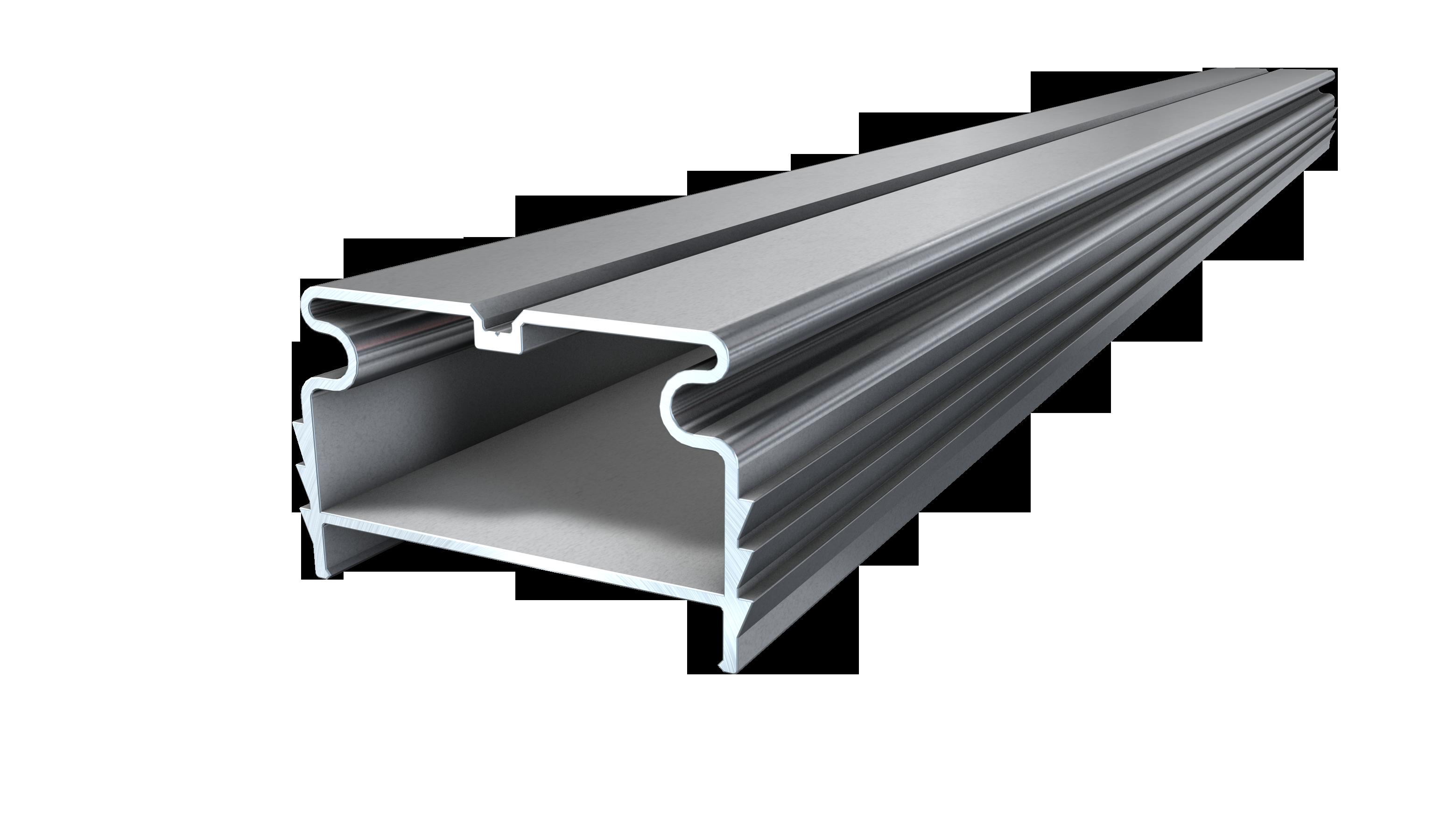 Kovalex Aluminium Profi Unterkonstruktion - 40x64x3000 mm - Aluminium Silber