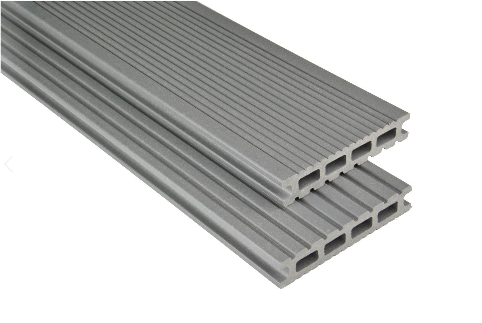 Exklusiv Hohlkammer Grau mattiert, 26x145 mm