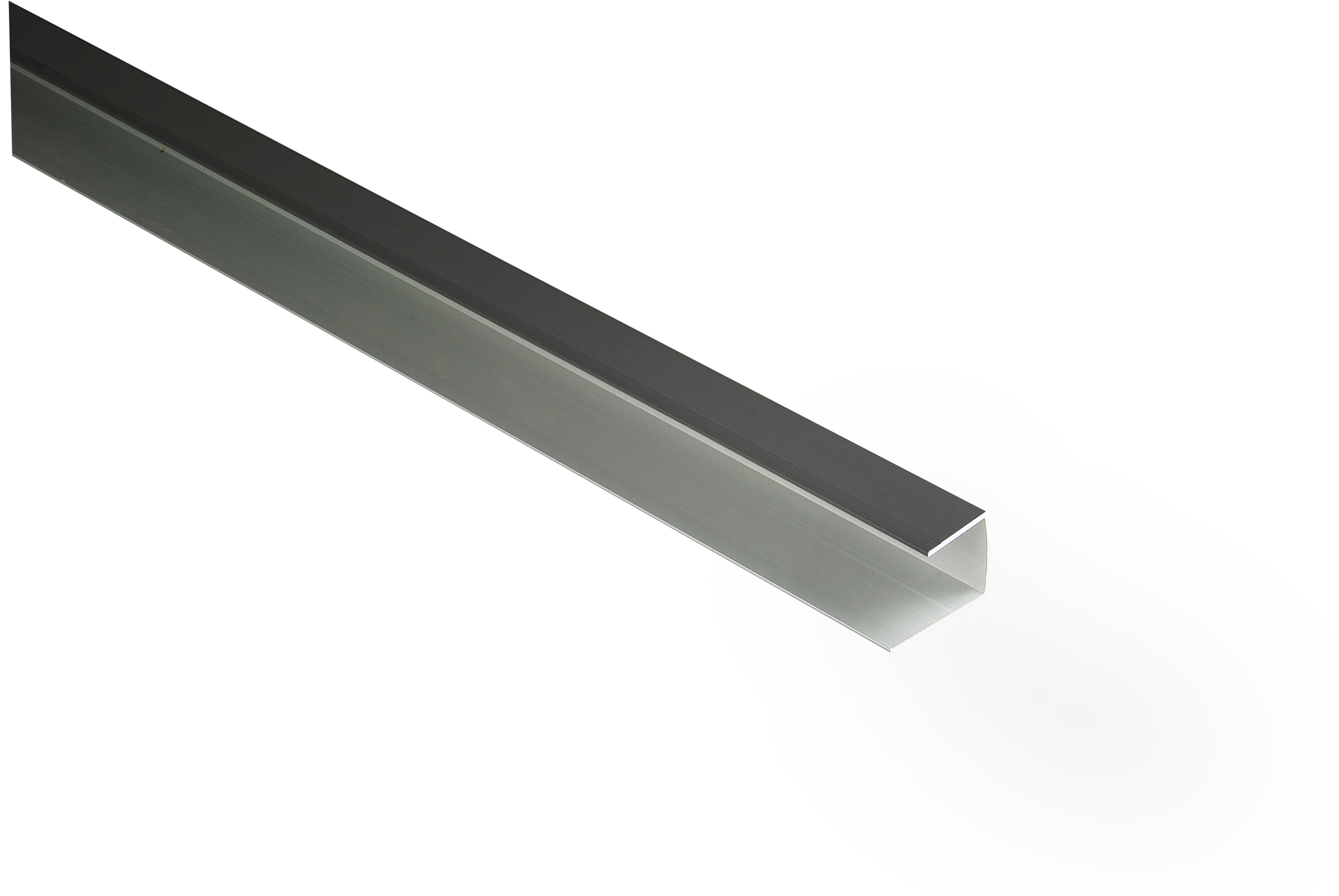 Kovalex Aluminium-Einfassprofil (U-Profil) für 20 mm Dielen - Farbe: Anthrazit